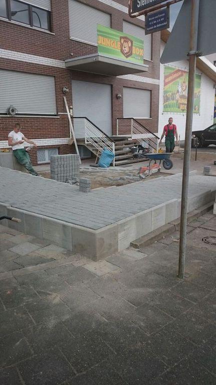 Bau einer Rollstuhl und Kinderwagen Rampe (16)